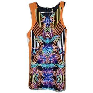 Lovemarks Vibrant Multi-Colored Sheath Dress Sz M